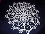 Small White Doily, Decorative Lace, Old Time Pattern, 12 inches