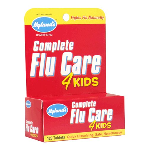 Hyland's Complete Flu Care, 4 kids, 125 Tablets (Pack of 4)