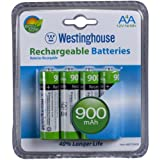 (4 pack) Westinghouse AA NI-MH 900MAH Rechargeable Batteries