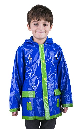 Little Boy's Green Frog Rain Coat Sizes Toddler / Little Kids