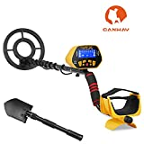 Canway GC-1028 Metal Detector with Pinpoint Function for Kids, High Accuracy Gold Hunter with Waterproof Sensitive Search Coin Plus Shovel Pickax and Bags