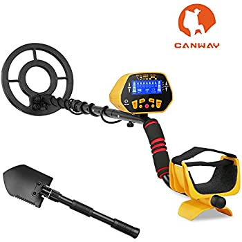 CANWAY Metal Detector with Pinpoint Function, Professional High Accuracy Gold Digger for Kids and Adults. Detect 3 Feet Deep Plus Shovel/Pickaxe and Bags ...