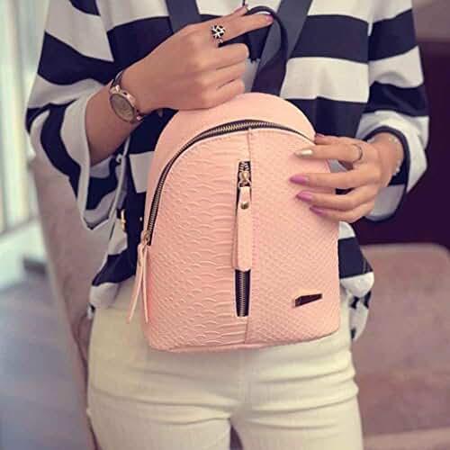 Travel Backpack,Hemlock Teenagers Girls Shoulder Bag School Backpack Bag (Pink)