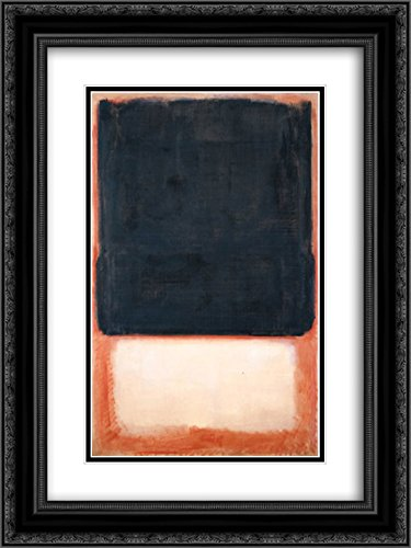 Mark Rothko 2x Matted 20x24 Black Ornate Framed Art Print 'No. 7 (Dark Over Light)' 7' Matted Print