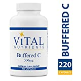 Vital Nutrients - Buffered C 500 mg - Gentle Vitamin C for Sensitive Individuals - 220 Capsules per Bottle