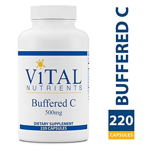 Vital Nutrients - Buffered C 500 mg - Gentle Vitamin C for Sensitive Individuals - 220 Capsules per Bottle (Vital C Vitamin)