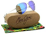 Maui Jim MAVERICKS Titanium Polarized Sunglasses Blue Hawaii B264-17