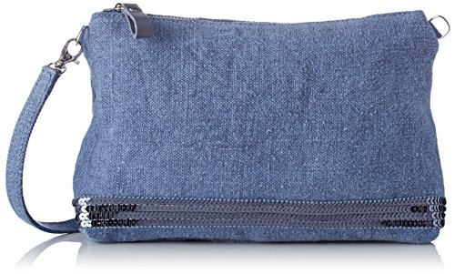 Vanessa Bruno Pochette Épaule Lin Et Paillettes - Shoppers y bolsos de hombro Mujer Azul (Bleu de Chine)