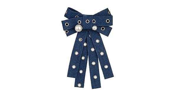 Gimitunus Corbata de Lazo de Las Mujeres, Moda para Mujer Perla ...