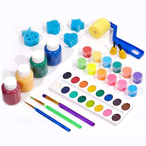 TBC The Best Crafts Washable Paint Set for Kids, Big and Rich Paint Set ()