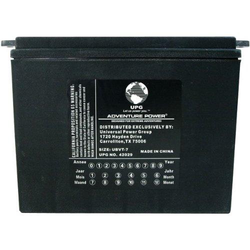 UPG Product-UPG 42029 UBVT-7, Sealed AGM V-Twin Power Sports Battery