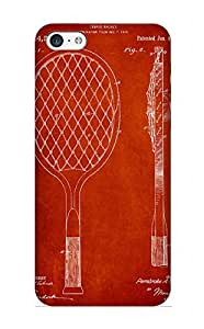 New Diy Design Vintage Tennnis Racketl Patent Drawing From 1921 For Iphone 5c Cases Comfortable For Lovers And Friends For Christmas Gifts