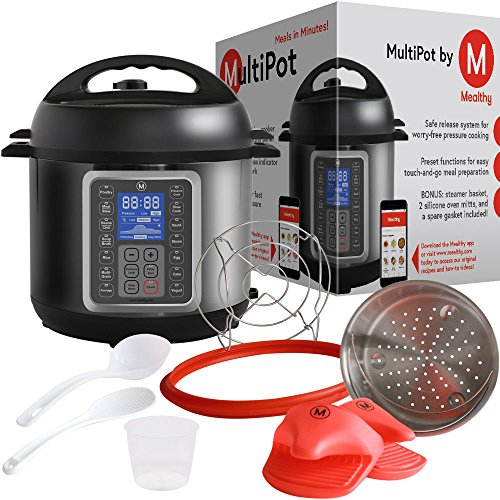 MultiPot-9-in-1-Programmable-Pressure-Cooker-6-Quarts-by-Mealthy-Stainless-Steel-Pot-steamer-basket-instant-access-to-recipe-app-Pressure-cook-slow-cook-saut-rice-cooker-yogurt-steam-etc
