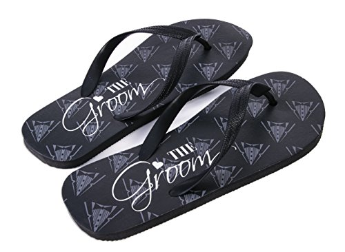 Forum Novelties Groom Flip Flops, Black - http://coolthings.us