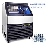 Happybuy Ice Making Machine Commercial 264lb/24h Ice Maker Cube Machine 110V 510W Stainless Steel 5x18 Cubes for Supermarkets Restaurants Laboratories (264lbs/24h)