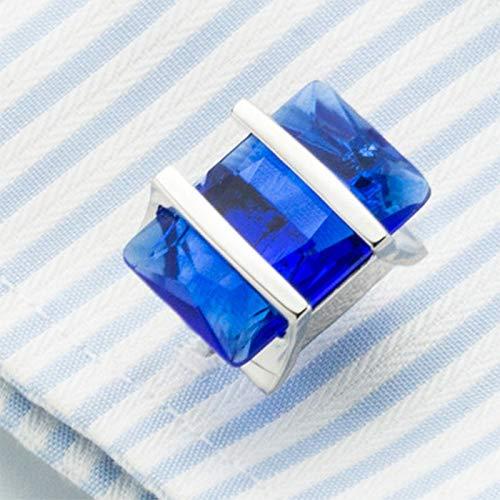 Da.Wa Elegant Blue Crystal Square Cuff Links Men's Business Wedding Shirt Cufflinks Accessories by Da.Wa (Image #6)