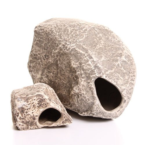 Underwater Galleries Big Rock Box, 10 Large Ceramic Cichlid Stones, Assorted Styles