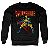 Officially Licensed Merchandise Wolverine Scratches Sweatshirt (Black), Medium