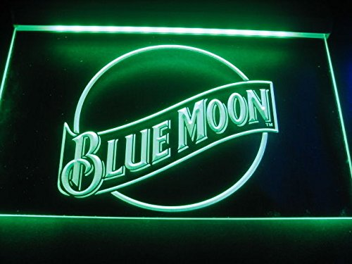 Blue Moon LED Caracteres Publicidad Neon Cartel Verde ...