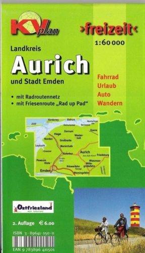 Aurich Landkreis: 1:60000. Freizeitkarte incl. Rad- und Wanderwegen, mit Radroutennetz