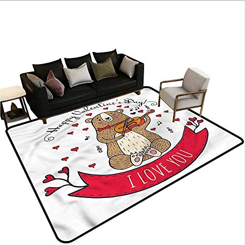 Valentines Day,Floor Mats for Living Room 80