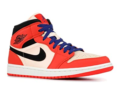 detailed look 4e3a7 619ca Nike Jordan 1 Mid SE Team Orange Black-Crimson Tint (7.5 D(
