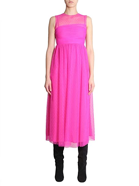 online retailer f0407 3a412 Red Valentino Vestito Donna QR0VA7Y01GKFA9 Seta Fucsia ...