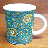 Kutani pottery mug blue backgr