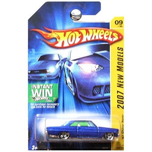 - Hot Wheels '67 Blue Chevy Nova Pr5 1/64 2007