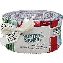 Amanda Murphy Winter Games Pinwheel 40 2.5-inch Strips Jelly Roll Benartex