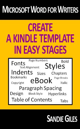 Microsoft Word For Writers Create A Kindle Template In Easy Stages