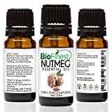 Facial Muscles Swelling - BioFinest Nutmeg Oil - 100% Pure Nutmeg Essential Oil - Relieve Muscle Pain, Swelling, Inflammation - Premium Quality - Therapeutic Grade - Best For Aromatherapy - FREE E-Book (10ml)