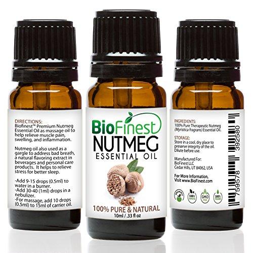 BioFinest Nutmeg Oil Inflammation Aromatherapy