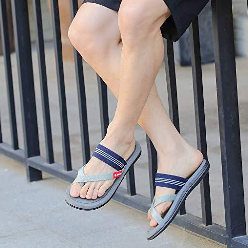 Naladoo Men Women Beach Flip Flops Flat Sandals Summer Outdoor Slip-On Slippers by Naladoo Men's Shoes (Image #5)