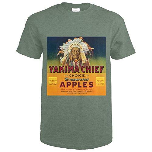 Yakima Chief Apple Label (Heather Military Green T-Shirt XX-Large) (Yakima Heather)