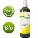 Natural Pet Spray for Dogs & Cats – Tick + Flea & Insect Repellant with Lemongrass & Citronella - Best Aromatherapy Odor Eliminator By Honeydew (8oz)