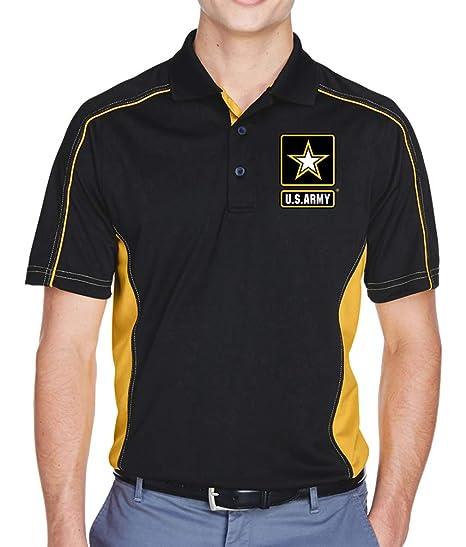 8217e20dcaa82 Mens Extreme US Army Colorblock Polo Shirt