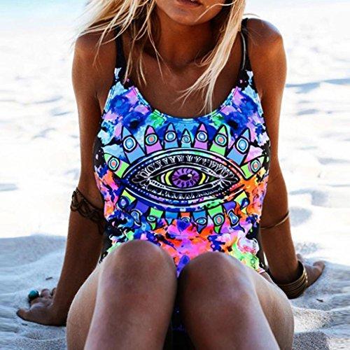 bagno brasiliana ❤️ Spiaggia ❤️️beautyjourney donna Interi beachwear donna Imbottito Bikini Push Blu intero ragazza donna up Mare costumi intero donna Reggiseno da Costume sexy interi qwECx6wF