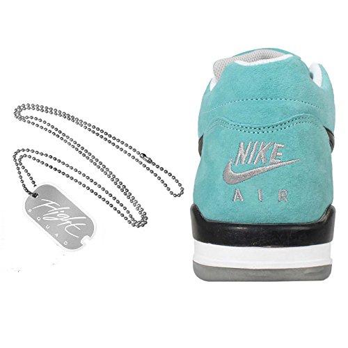 Nike Squad de vuelos para hombre Hi-top Formadores 724986 zapatillas de deporte aqua black metallic silver 400