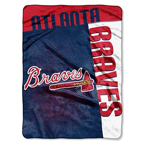 MLB Atlanta Braves Strike Plush Raschel Throw, 60