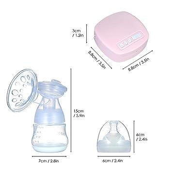 Decdeal Elektrische Milchpumpe Brustpumpe Doppel Sauger Stillpumpe 3 Modi 9 Stufen R/ückflussschutz USB Aufladebar