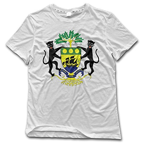 Gabon Coat - Disnahizjenuy9j Men Coat of Arms of Gabon Cotton T-Shirt 6XL
