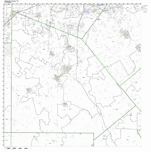 Working Maps Atascosa County, Texas TX Zip Code Map Not Laminated