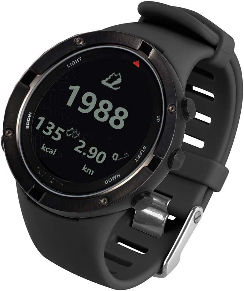 Explopur Reloj para Exteriores con GPS Reloj de triatlón con frecuencia cardíaca Reloj Deportivo con altímetro