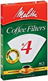 Melitta 624404 40 Count No. 4 White Cone Coffee Filters