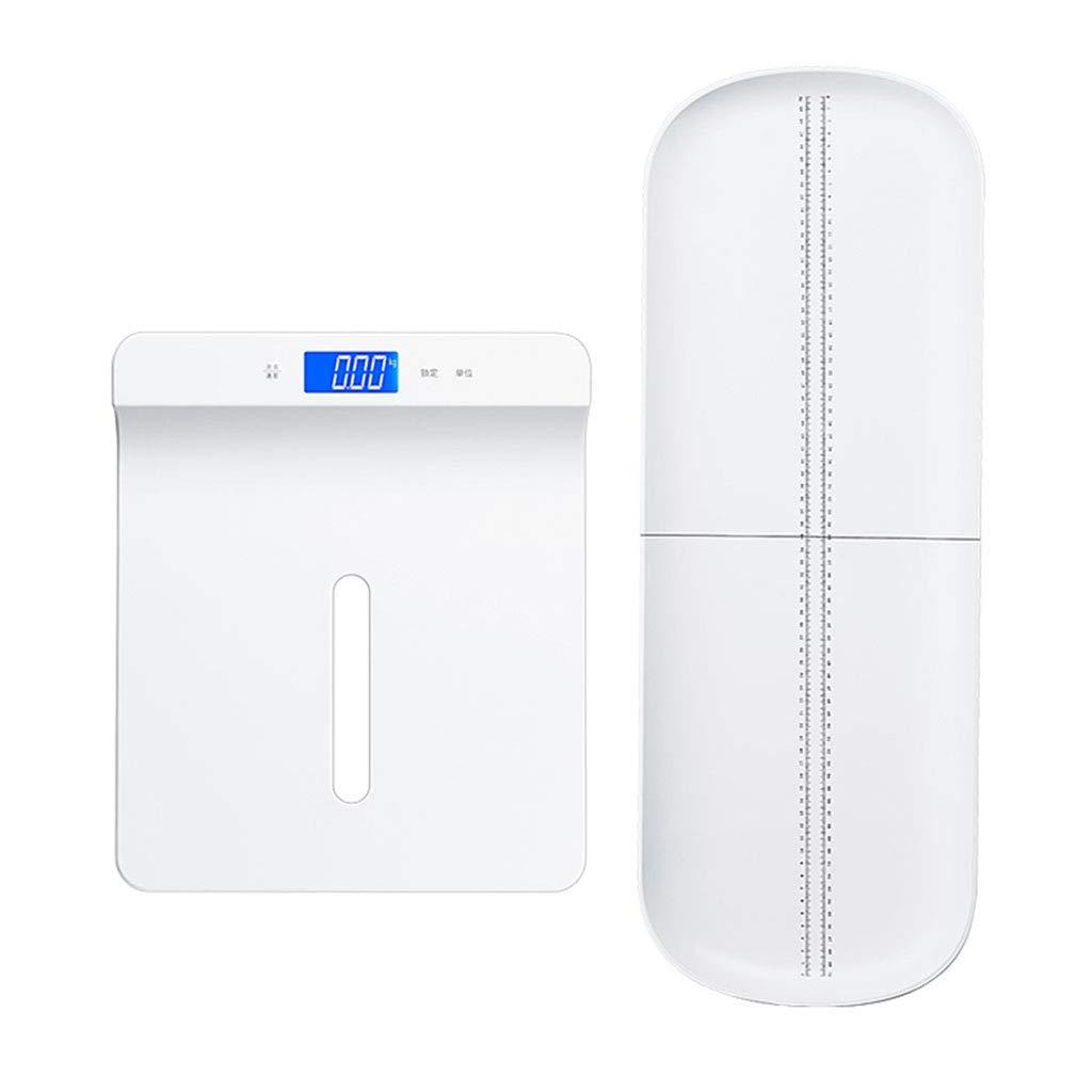 体重計 ホワイト電子ベビースケールデジタル正確な赤ちゃん重量スケールバックライトディスプレイリムーバブルトレイUSB充電多機能の母親の赤ちゃん100キロ容量   B07K8KLSS9