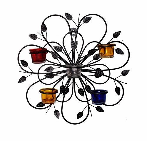 (Hashcart Wall Scone Tea Light Candle Holder/Metal Candle Light Holder Set/Designer Votive Candle Holder Stand/Table Decorative Candle Holders, Votive Tea Light for Home Living Room & Office)