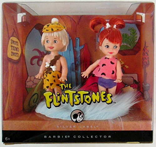 Barbie Collector Silver Label - The Flintstones (Pebbles and (Pebbles And Bamm Bamm Costumes)