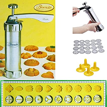 1 Set Cookie macchina della pressa del biscotto del biscotto Fare pompa del creatore Macchina della pressa per DIY cottura della cucina Rosa