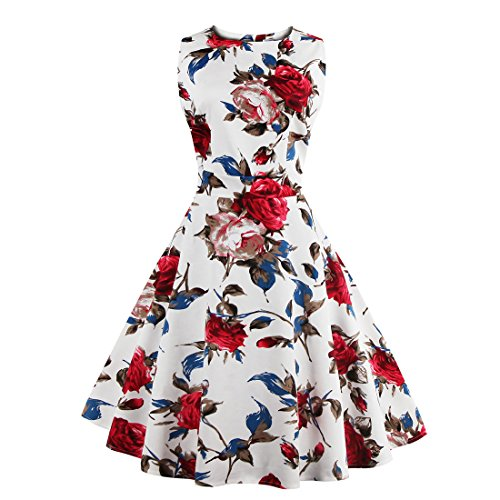 LUOUSE-Womens-1950s-Vintage-Floral-Rockabilly-Swing-Party-Evening-Dresses